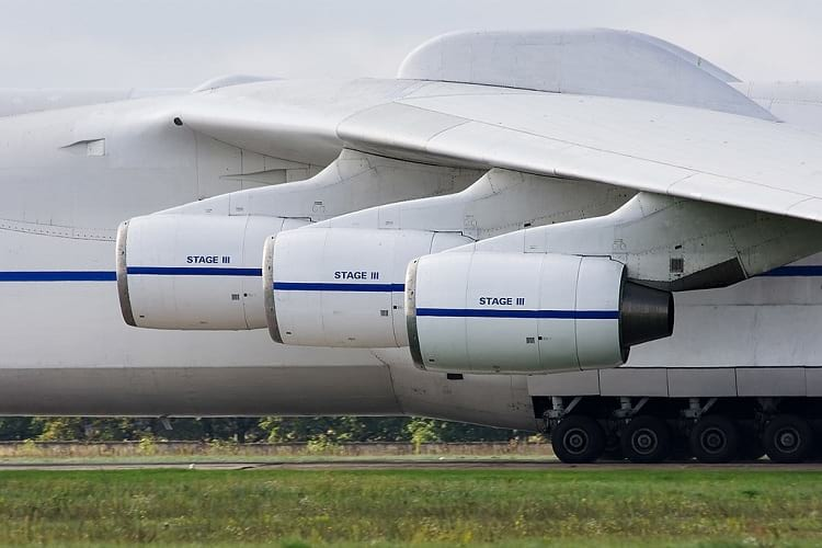 An-225 is equipped with three powerful D-18T engines.