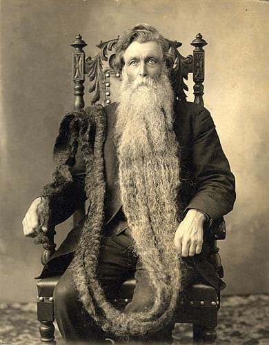 Hans Langseth and his long beard.