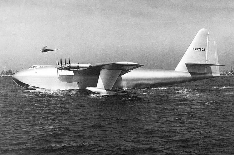 Hughes H-4 Hercules during trial.